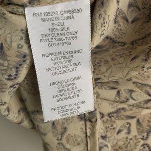 0f297269741388 Joie Tops - Joie   Butterfly Print Silk Blouse Size Medium